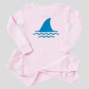 Blue shark fin Baby Pajamas