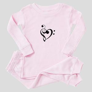 Treble Heart Baby Pajamas