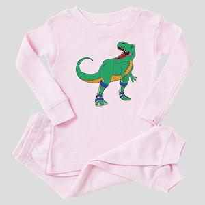 Dino with Leg Braces Baby Pajamas