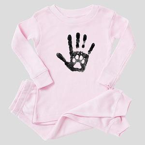 Lobo Paw Print Baby Pajamas