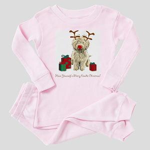 Merry Doodle Christmas Baby Pajamas