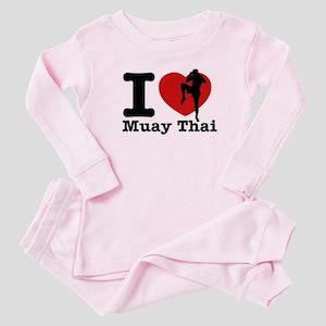 Muay Thai Heart Designs Baby Pajamas