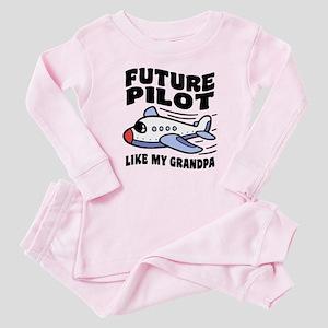 Future Pilot Like My Grandpa Baby Pajamas