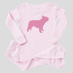 Pink French Bulldog Baby Pajamas