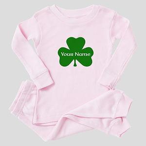 CUSTOM Shamrock with Your Name Baby Pajamas