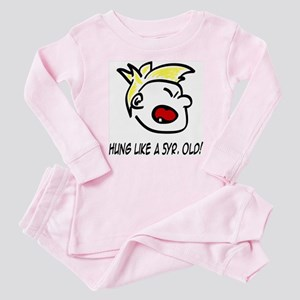 """""""Hung Like a 5yr Old!"""" Baby Pajamas"""