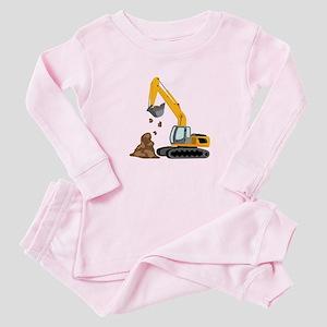 Excavator Baby Pajamas