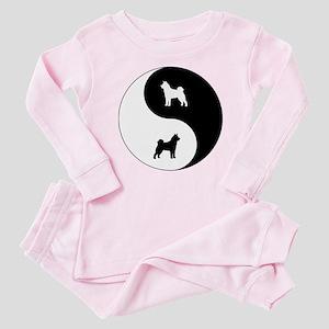 Yin Yang Akita Baby Pajamas