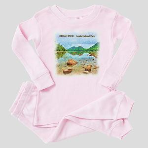 Jordan Pond - Acadia National Park Baby Pajamas