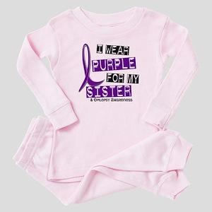 I Wear Purple 37 Epilepsy Baby Pajamas