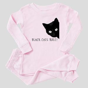 Black cats rule Baby Pajamas