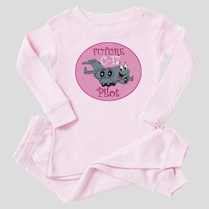 Mil 2 C17 baby pilot F Baby Pajamas