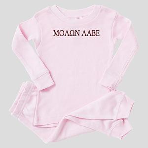Molon Labe Baby Pajamas