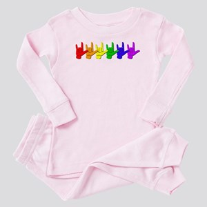 I love you - colorful Baby Pajamas