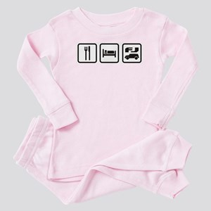 Eat sleep FJ! Baby Pajamas