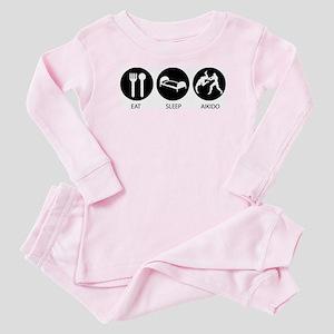 Eat Sleep Aikido Baby Pajamas