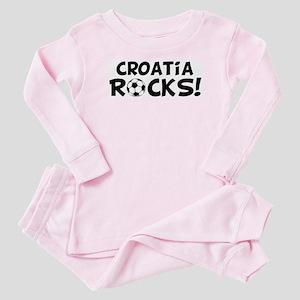Croatia Rocks! Baby Pajamas