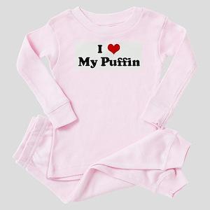 I Love My Puffin Baby Pajamas