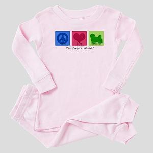 Peace Love Havanese Baby Pajamas