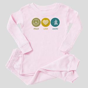 Peace Love Aikido Baby Pajamas
