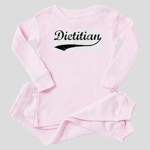 Dietitian (vintage) Baby Pajamas