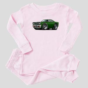 1969 Roadrunner Green-Black Baby Pajamas