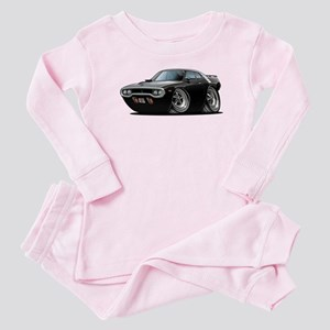 1971-72 Roadrunner Black Car Baby Pajamas