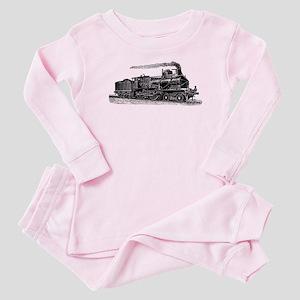 VINTAGE TRAINS Baby Pajamas