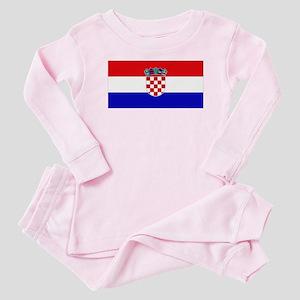 Croatian Flag Baby Pajamas