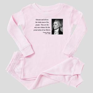 Thomas Jefferson 22 Baby Pajamas