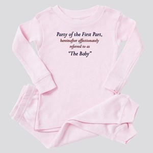 Party of the First Part Baby Pajamas