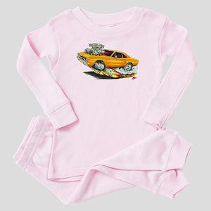 1970 Roadrunner Orange Car Baby Pajamas