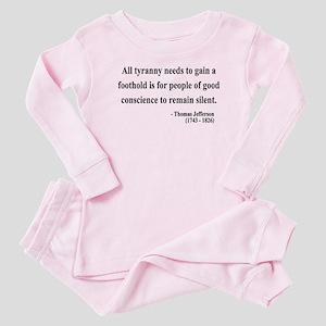 Thomas Jefferson 4 Baby Pajamas