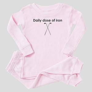 daily dose of iron Baby Pajamas