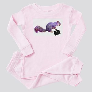 Purple Squirrel Baby Pajamas