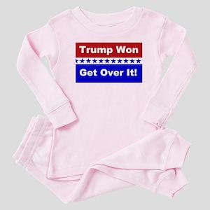 Trump Won Get Over It! Baby Pajamas