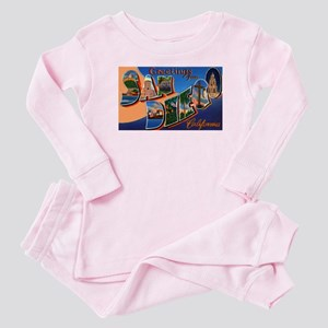 San Diego California Greetings Baby Pajamas