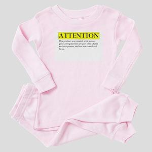 attention Baby Pajamas