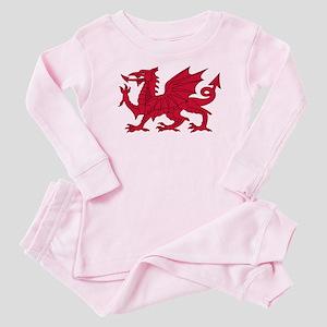 Welsh Dragon Baby Pink Pajamas