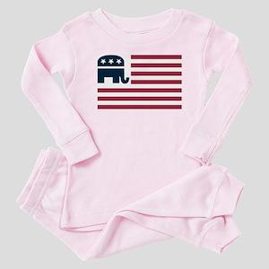GOP Flag Baby Pajamas