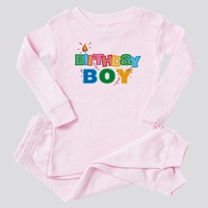 Birthday Boy Letters Baby Pajamas