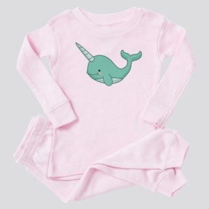 Happy Narwhal Baby Pajamas