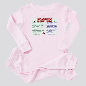 Bichon Frise Property Laws 2 Baby Pajamas