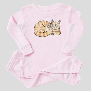 OrangeTabby ASL Kitty Baby Pajamas