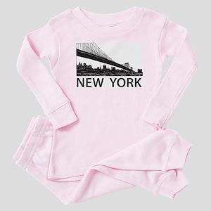 New York Skyline Baby Pajamas