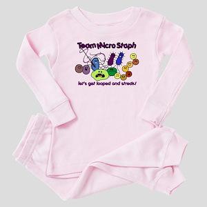 I Love Bacteria Baby Pajamas