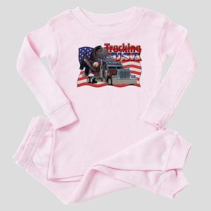 Trucking USA Baby Pajamas
