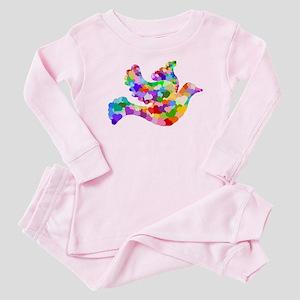 Rainbow Dove of Hearts Baby Pajamas