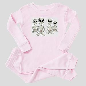 Meditating Aliens Baby Pajamas