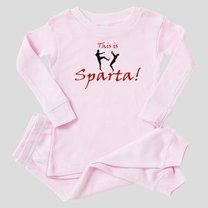 This is Sparta - Kick 3 Baby Pajamas